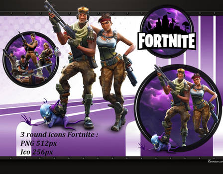 Fortnite round icons PNG ICO