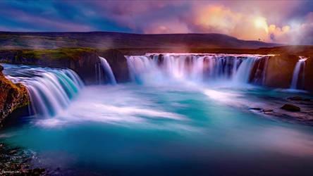 Waterfall Godafoss Live Wallpaper
