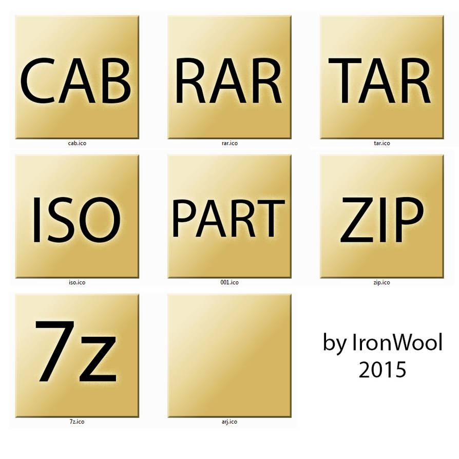 YELLOW PAPER - 7z icons filetypes by ironwool on DeviantArt