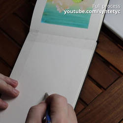 Old Forest Gouache painting video process