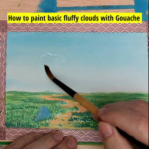 How to paint fluffy clouds - Gouache Mini tutorial