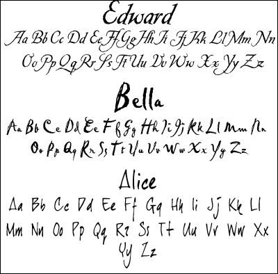 Fonts Used In Twilight