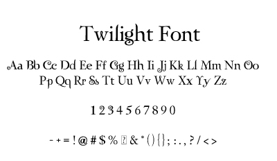 Twilight-Zephyr Font