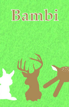 Bambi minimal movie poster
