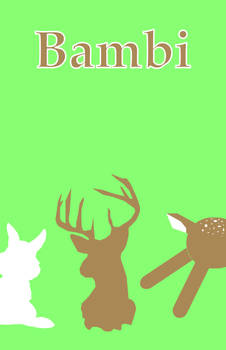 Bambi minimal movie poster