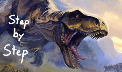Jurassic World Step by Step Process by FleetingEmber