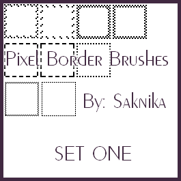 Pixel Border Brushes: SET 1 by Saknika