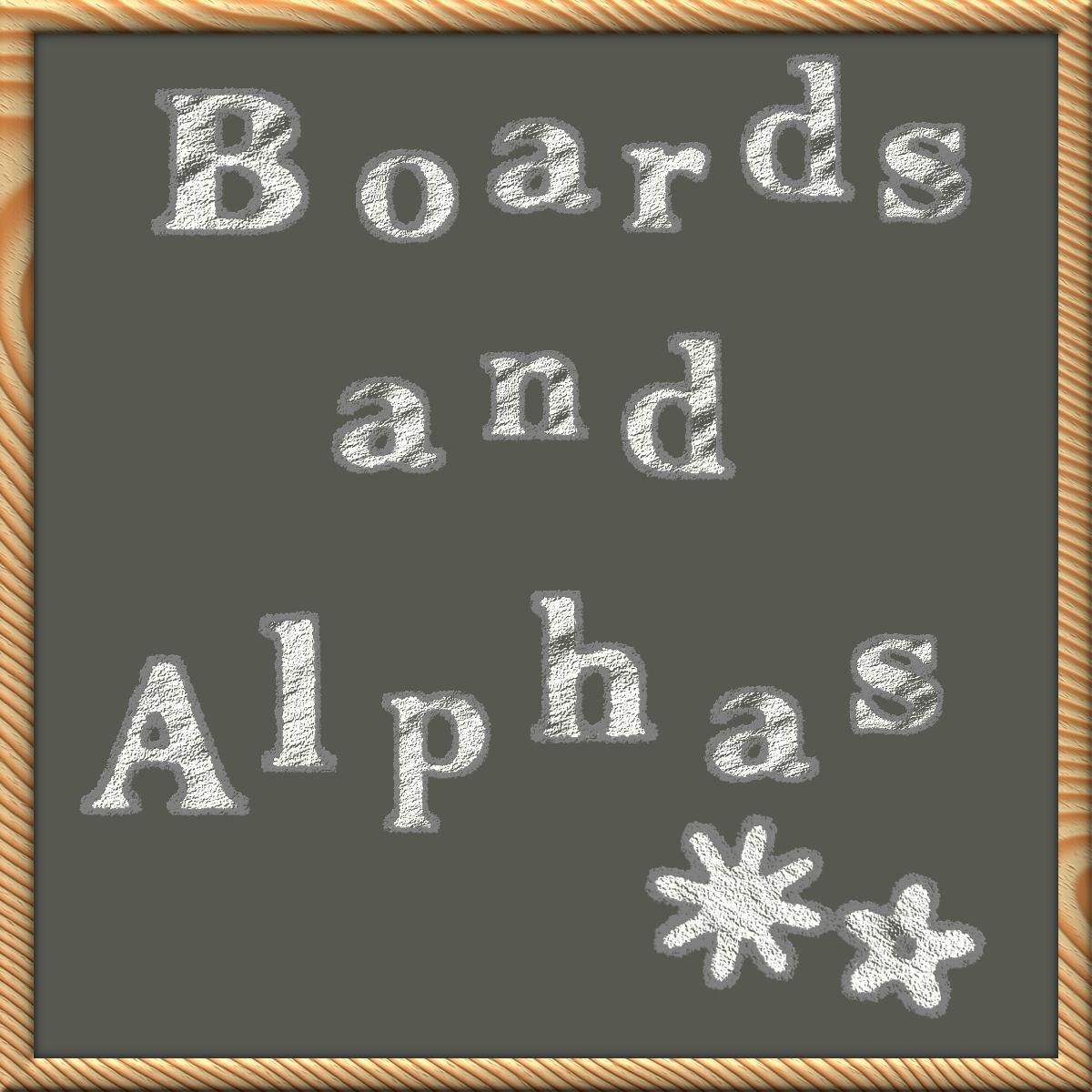Bizee Chalky Alpha-n-Chalkboards by Bizee1