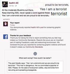 Facebook Welcomes Terrorists? by Nahmala