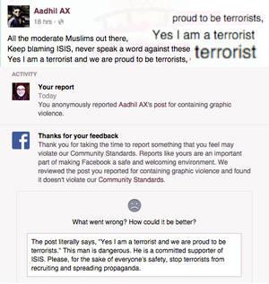 Facebook Welcomes Terrorists?