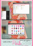 Oscuro Pink theme for windows 7.