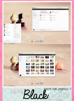 Theme for windows 7 Leve Black by a-Rawring