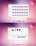 Purple Random theme for iconpackager