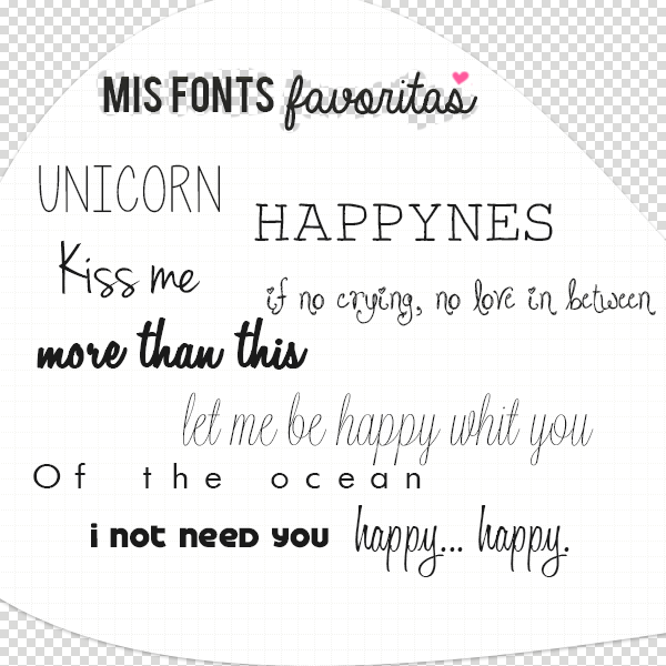 Mis Fonts Favoritas by a-Rawring