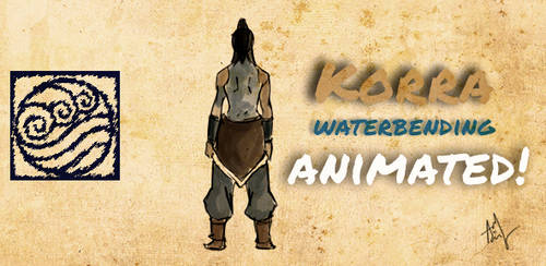 Rough Korra Animation by aadisart