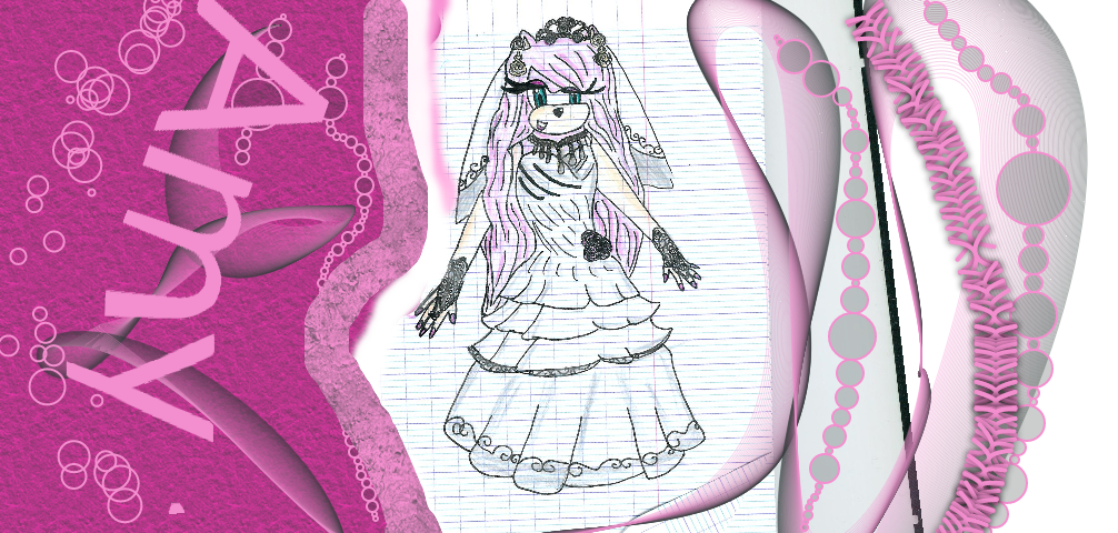 Amy Rose Weeding Dress Color By JuliatheHedgehog336 On