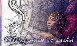 Badra Drawing animation process by Bea-Gonzalez
