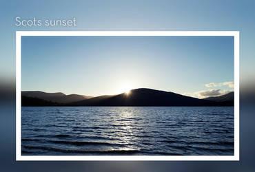 Scots sunset