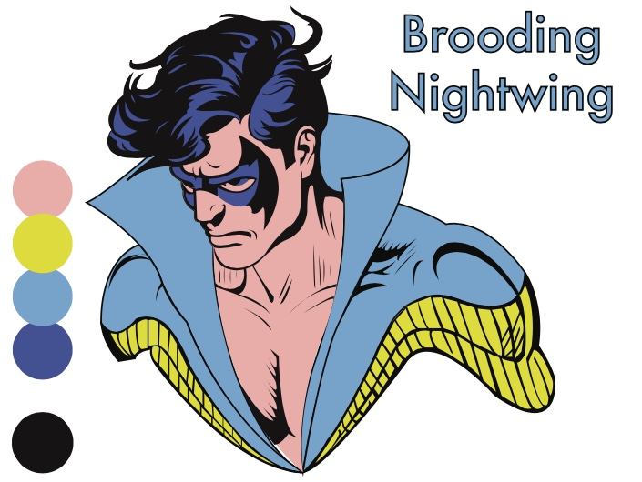 Brooding Nightwing by alexandrasmiles