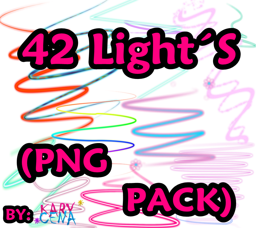 42 lights png pack by KaRyCeeNa