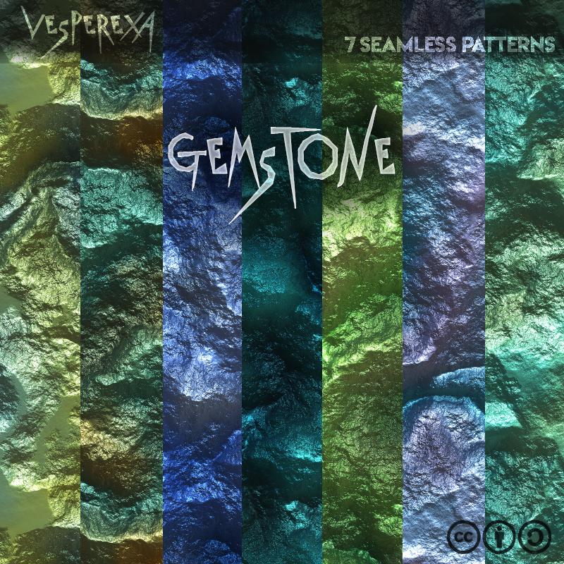 Gemstone Seamless Textures by Vesperexa