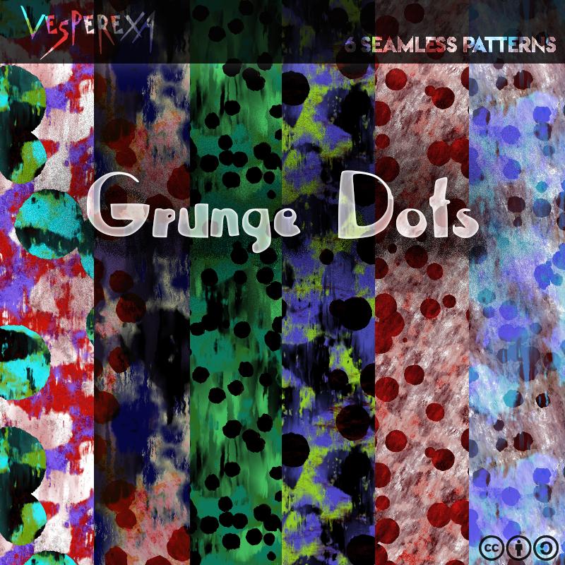Grunge Dots Patterns by Vesperexa