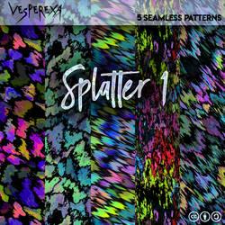 Splatter Patterns 1 by Vesperexa by Vesperexa