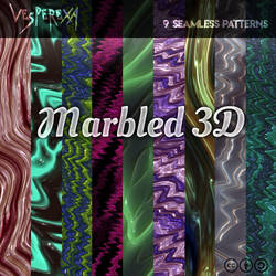 Marbled 3D Patterns by Vesperexa by Vesperexa