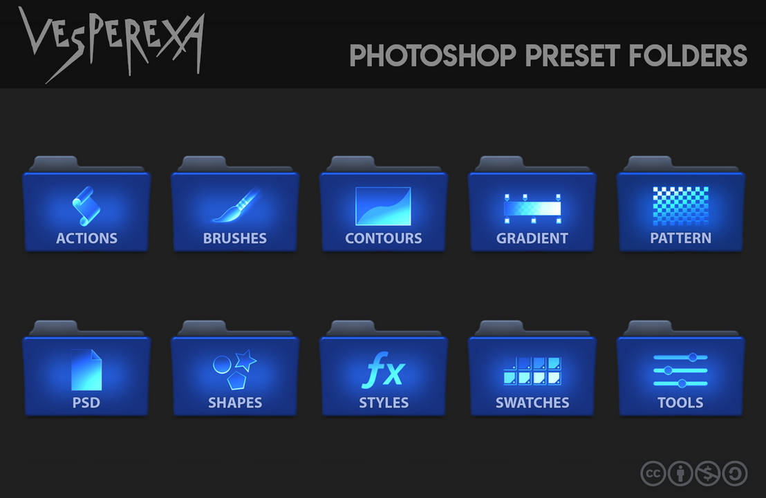 Photoshop Preset Folders by Vesperexa