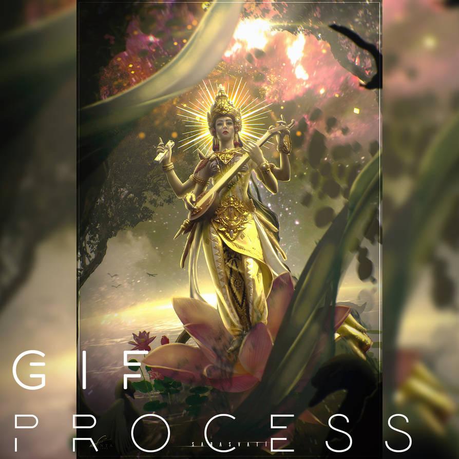 Sarasvati GIF Animation Process