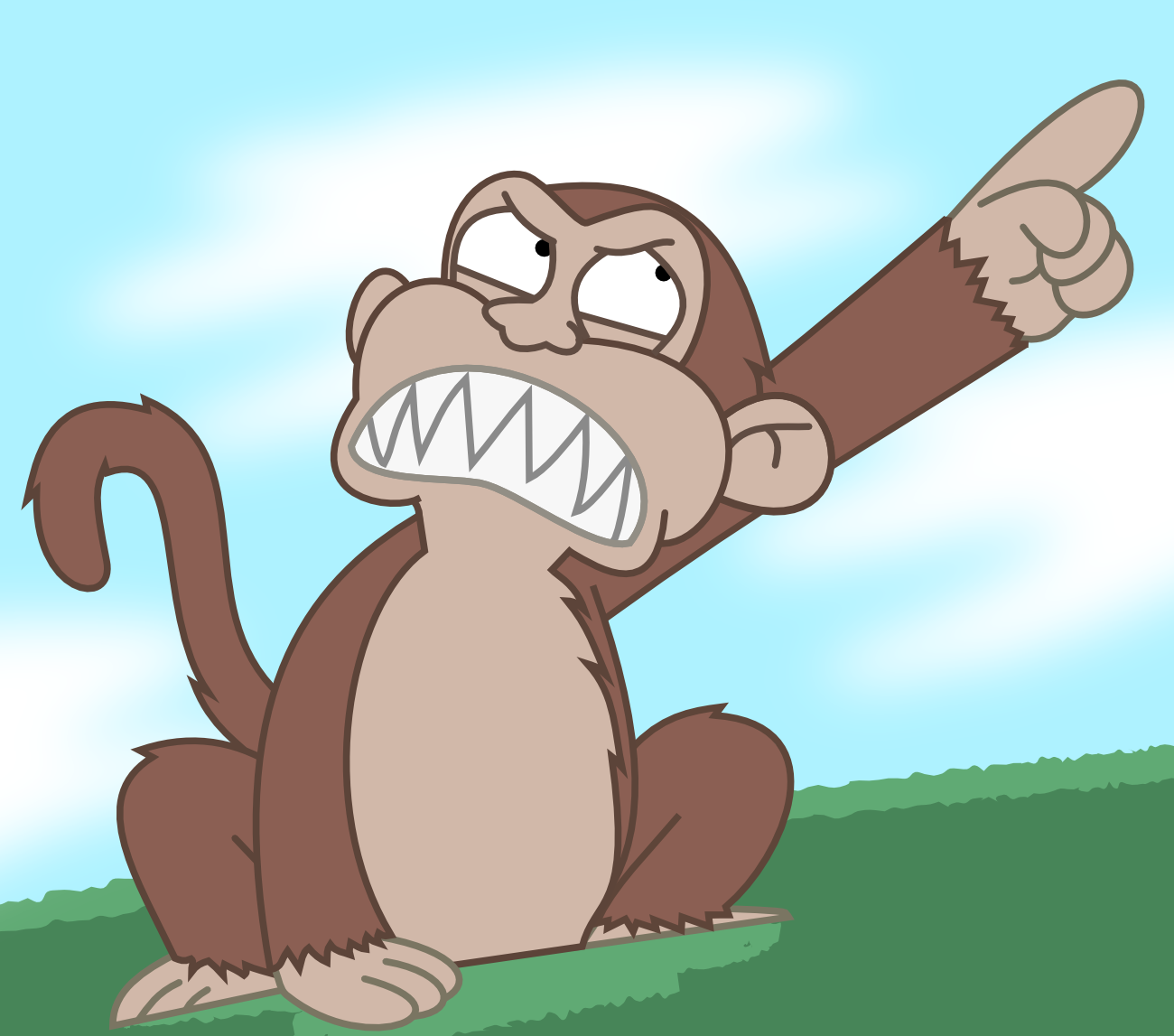 Ready..set...PLAY! - Page 3 Evil_monkey_by_lonmcgregor-d56gno4