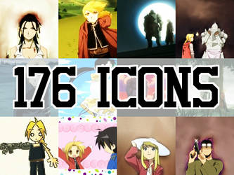 176 Fullmetal Alchemist Icons by freaksoldier