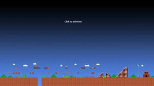 Super Mario 1-1 Animated Wallpaper Gif - HD 1080p by ColinPlox