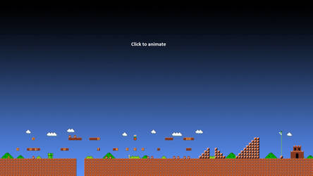 Super Mario 1-1 Animated Wallpaper Gif - HD 1080p