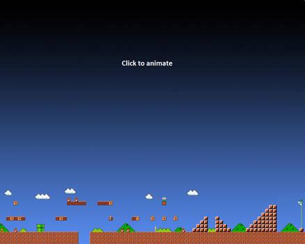 Super Mario 1-1 Animated Wallpaper Gif - 1280x1024