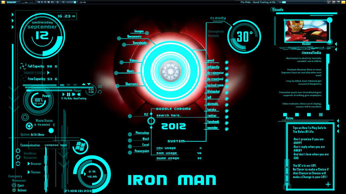 iron man jarvis screensaver
