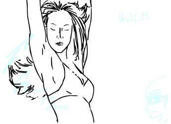 Jessica Alba dance animated by F-Stormer-3000