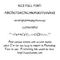 Kez Full Font by Kezhound