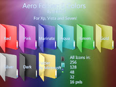 Aero Folder: 9 Colors by Vinis13