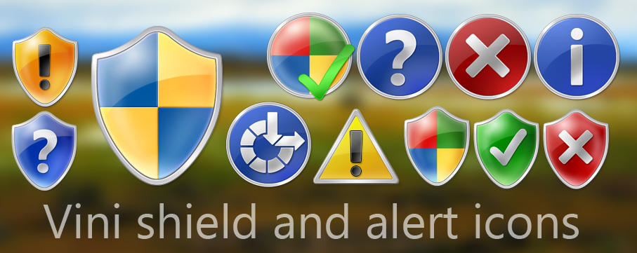 Vini Shield an Alerts Icons by Vinis13