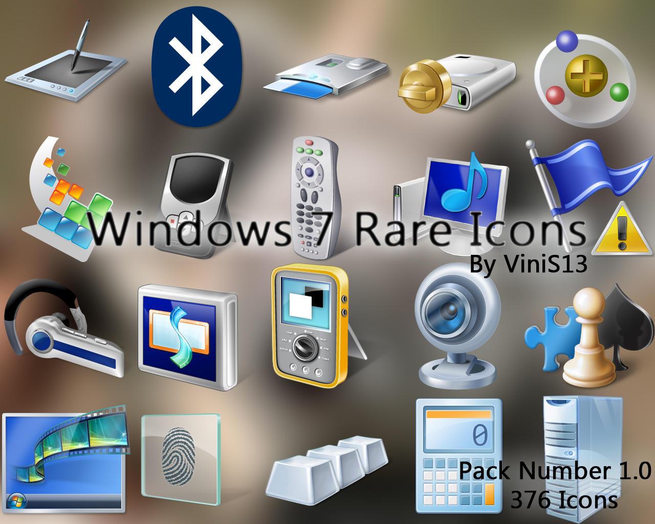 Windows 7 Rare Icons by Vinis13
