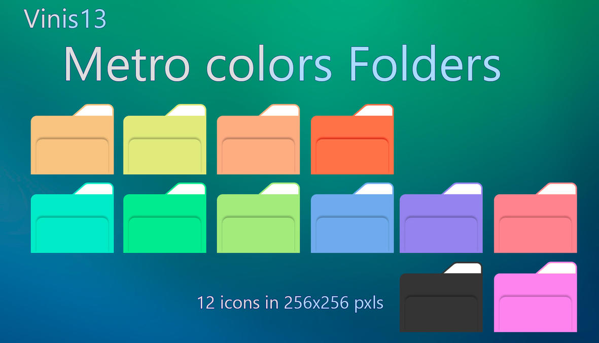 Metro Colors FOLDERS by Vinis13