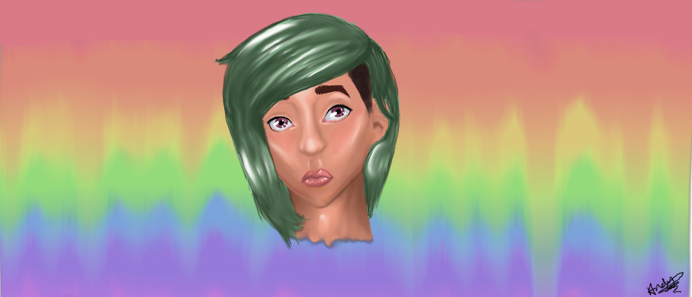 First attempt at semi-realism (((: by Andyhascolorfulhair