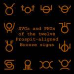 Extended Zodiac Vectors - Prospitian Bronze signs