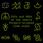 Extended Zodiac Vectors - Prospitian Lime signs