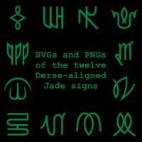 Extended Zodiac Vectors - Dersite Jade signs