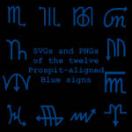 Extended Zodiac Vectors - Prospitian Blue signs