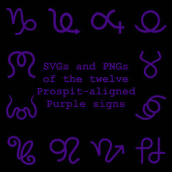 Extended Zodiac Vectors - Prospitian Purple signs