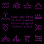 Extended Zodiac Vectors - Dersite Violet signs