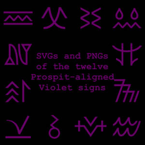 Extended Zodiac Vectors - Prospitian Violet signs